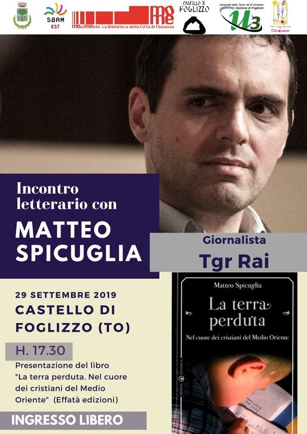 INCONTRO LETTERARIO CON MATTEO SPICUGLIA