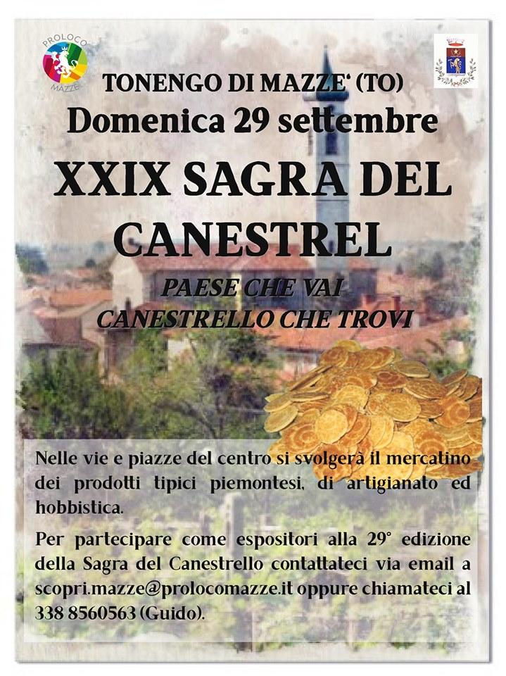 29ª SAGRA DEL CANESTREL DI TONENGO