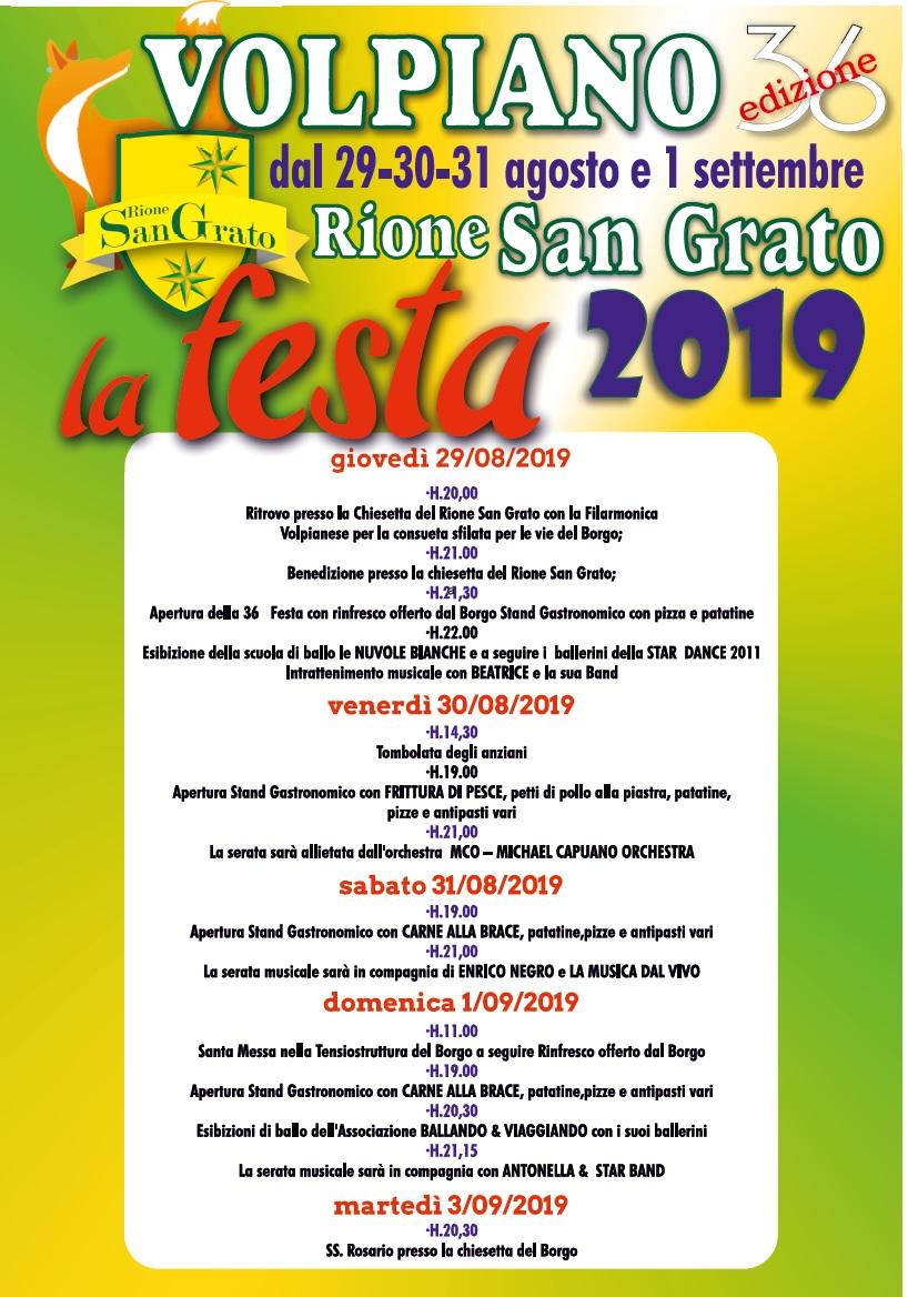 FESTA PATRONALE DEL RIONE SAN GRATO