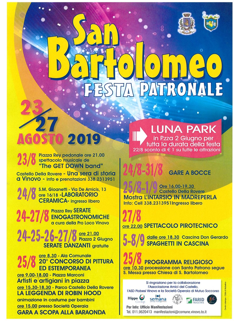 SAN BARTOLOMEO FESTA PATRONALE