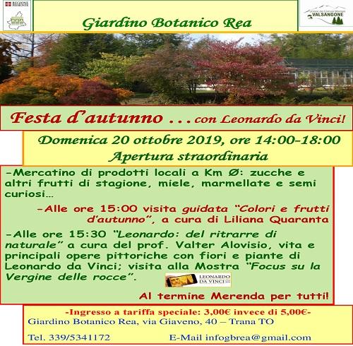 FESTA D'AUTUNNO CON...LEONARDO DA VINCI